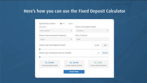 Know your maturity amount with Fixed Deposit Calculator